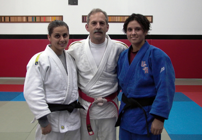 "The author with his two ""international"" daughters: Natalie Lafon and Valerie Lafon Gotay, 1992 and 2008 Olympian."